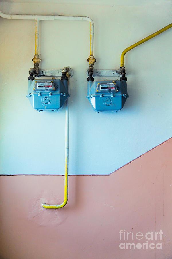 Gas Photograph - Gas Meters by Gabriela Insuratelu