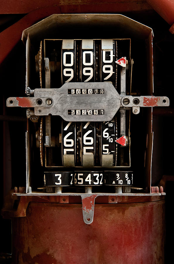 Machine Photograph - Gas Pump Meter by Murray Bloom