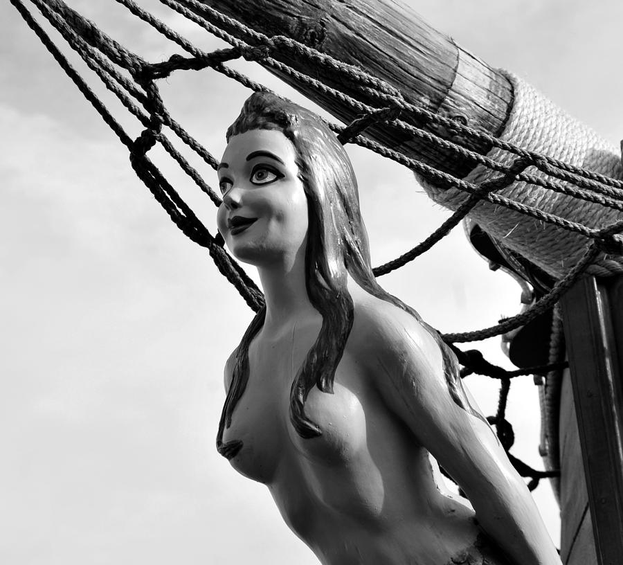 Black And White Photograph - Gasparilla Girl by David Lee Thompson