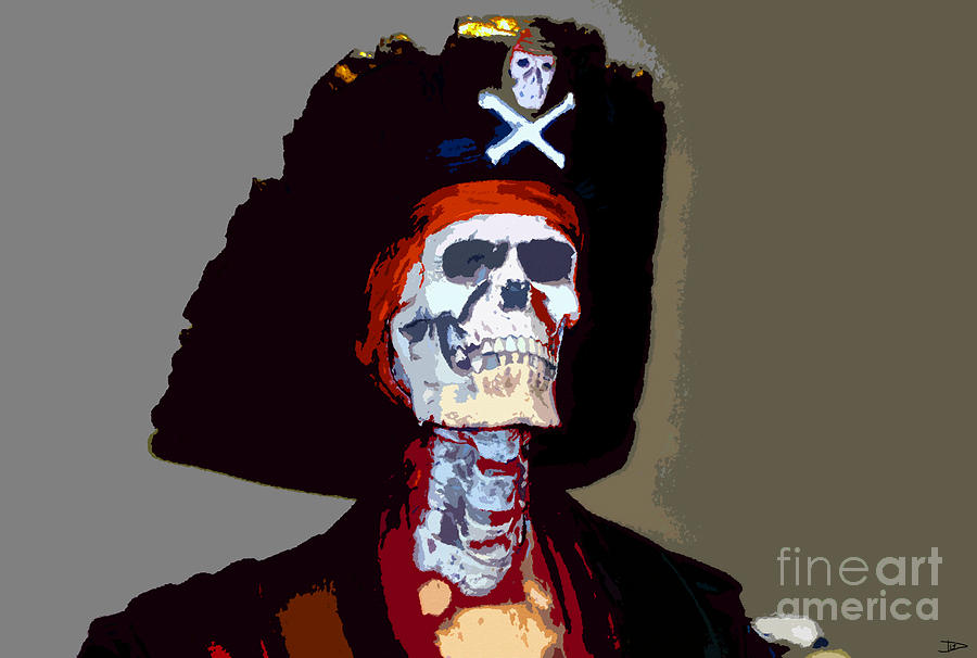 Gasparilla Pirate Festival Painting - Gasparilla Work Number 5 by David Lee Thompson