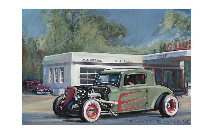 Hot Rod Painting - Gasser by Lorin Fleming