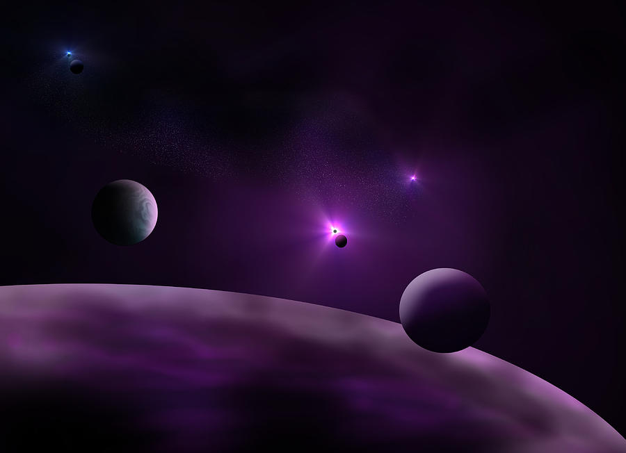 Planets Digital Art - Gassy Cosmos by Ricky Haug