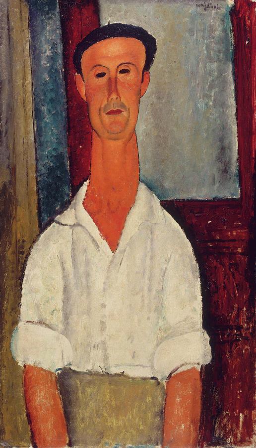 Gaston Painting - Gaston Modot by Amedeo Modigliani