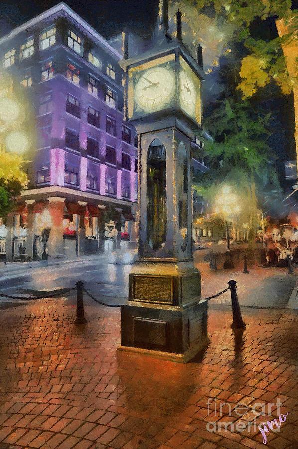 Vancouver Digital Art - Gastown Sreamclock 1 by Jim Hatch