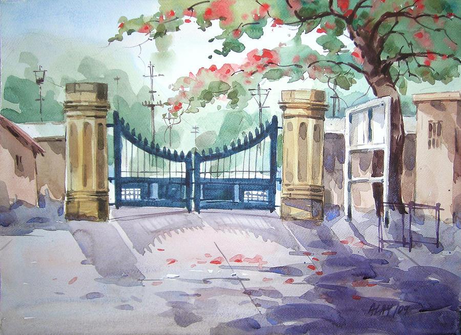 Gate Painting by Alaykumar Ghoshal