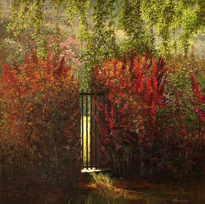 Gate Painting - Gate by Galina Grigorovich