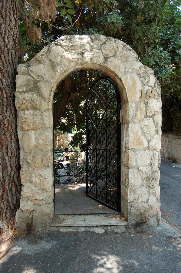 Gate Photograph - Gate In Rehavia I by Susan Heller
