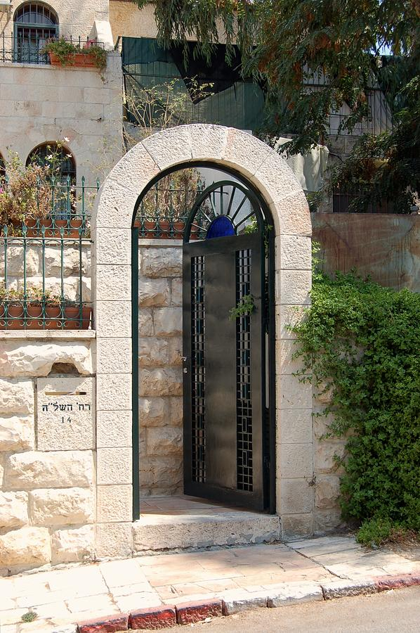 Israel Photograph - Gate In Rehavia II by Susan Heller