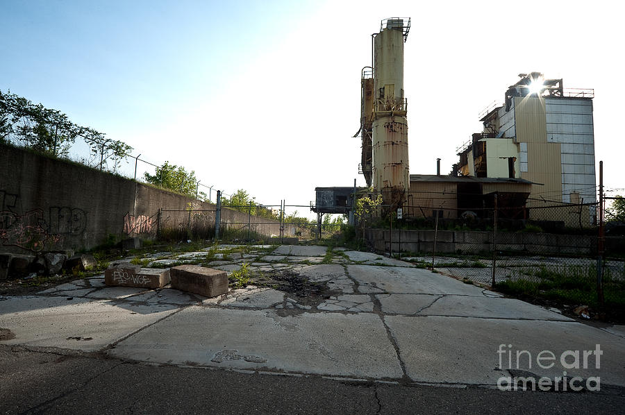 Detroit Photograph - Gate Is Locked by Steven Dunn
