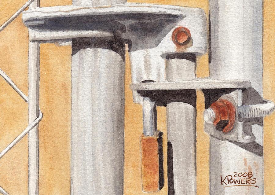 Gate Painting - Gate Lock by Ken Powers