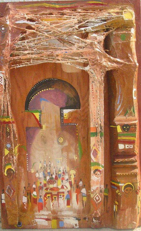 Gate Painting - Gate by Mekbib Geberstadik
