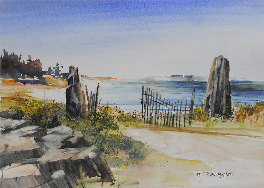 Shore Painting - Gate Shore Drive by P Anthony Visco