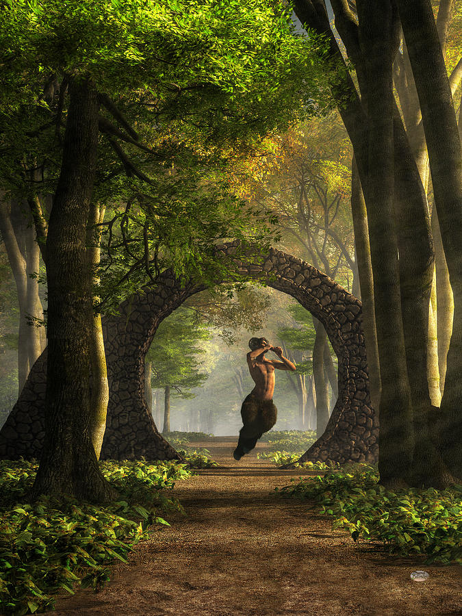 Pan Digital Art - Gate To Pans Garden by Daniel Eskridge