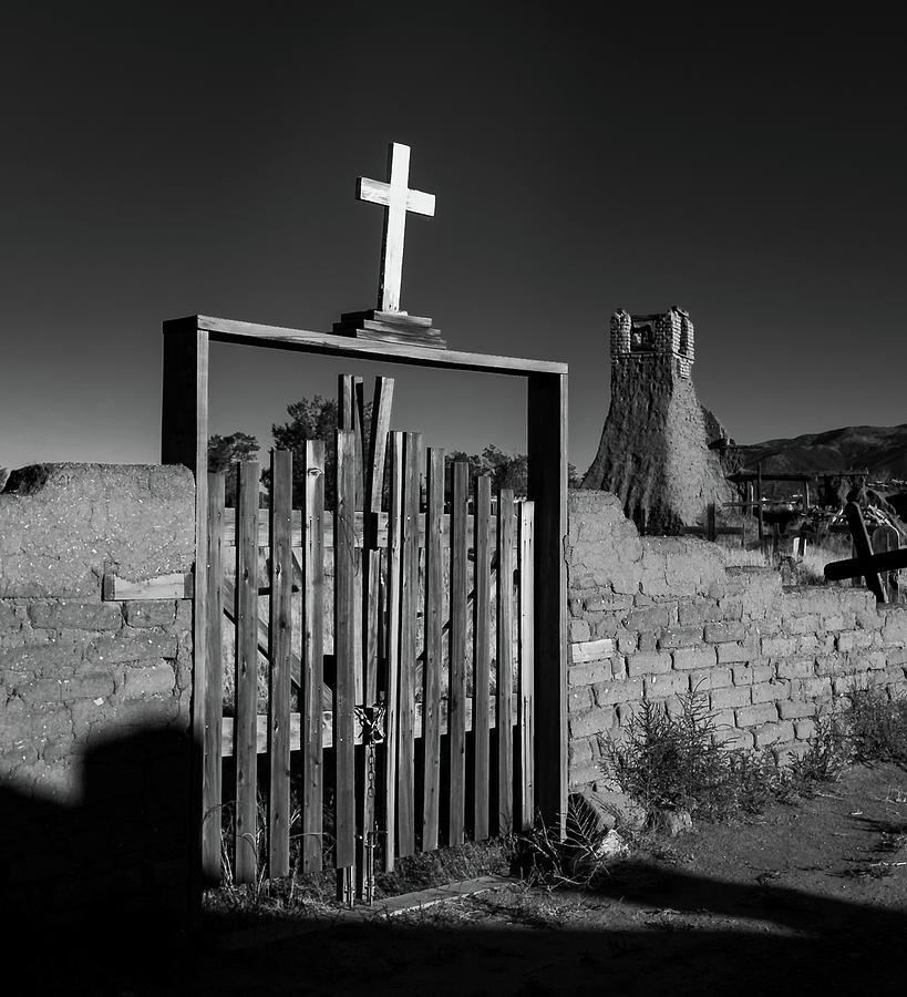 New Mexico Photograph - Gate With Cross by Joseph Smith