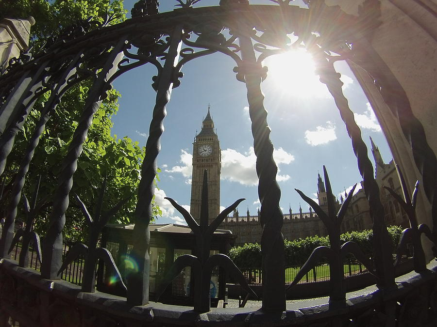 Big Ben Photograph - Gated Ben by Eric Reith
