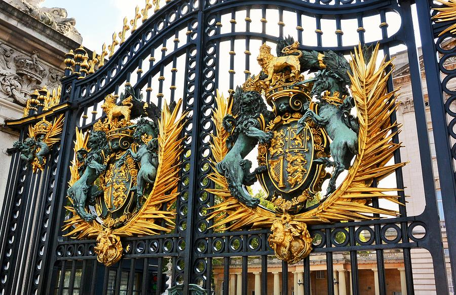 Gates Photograph - Gates of Buckingham Palace by Two Small Potatoes