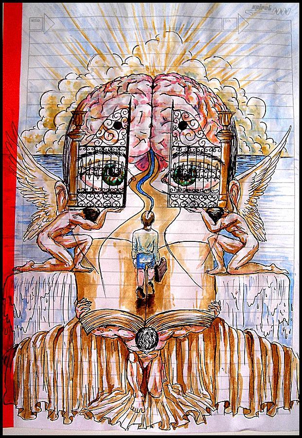 Gates Of Self-knowledge Digital Art - Gates Of Self-knowledge by Paulo Zerbato