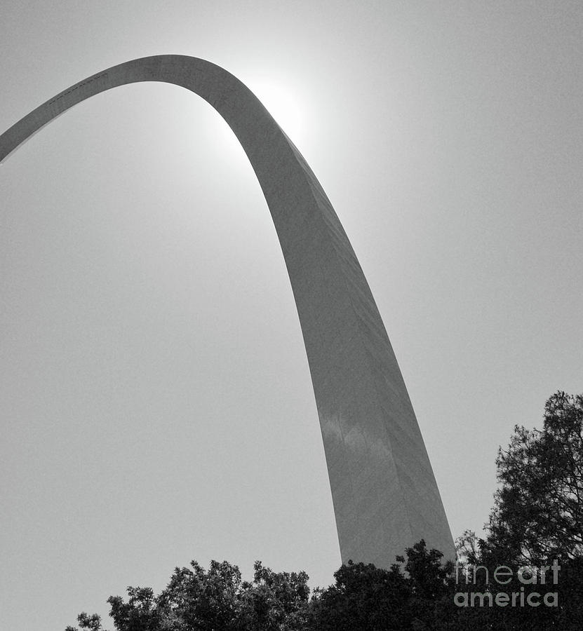 Gateway Arch and Sun St. Louis Missouri by Kimberly Blom-Roemer