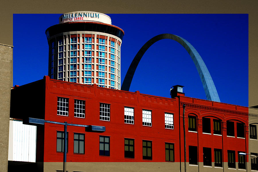 Gateway Arch And Warehouse by Patrick Malon