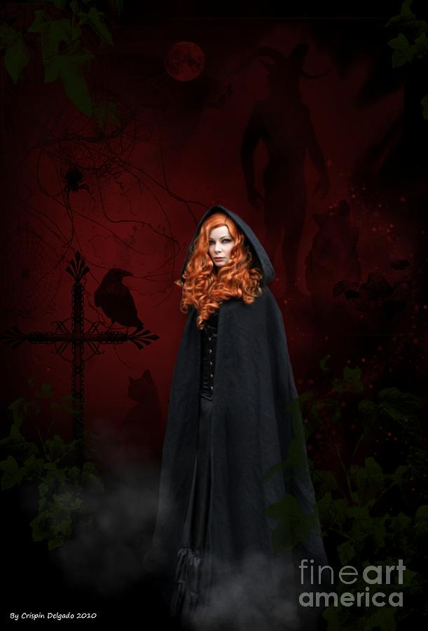Witch Digital Art - Gathering by Crispin  Delgado