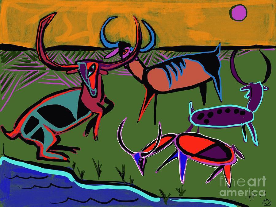 Gathering Herd by Hans Magden