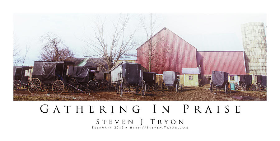 Amish Photograph - Gathering In Praise by Steven Tryon