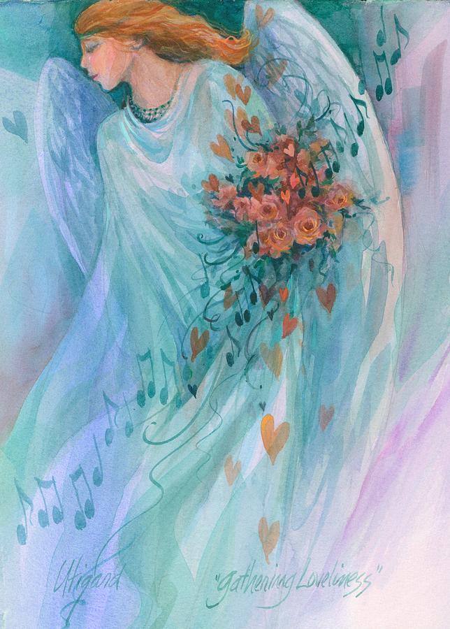 Gathering Loveliness Painting by Carolyn Utigard Thomas