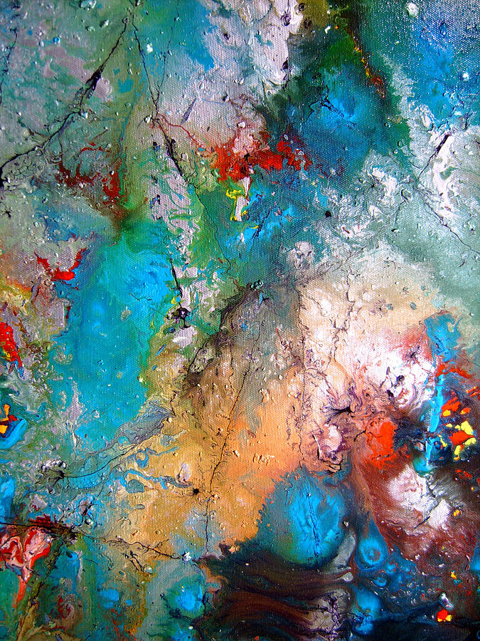 Abstract Painting - Gathering by Pearlie Taylor
