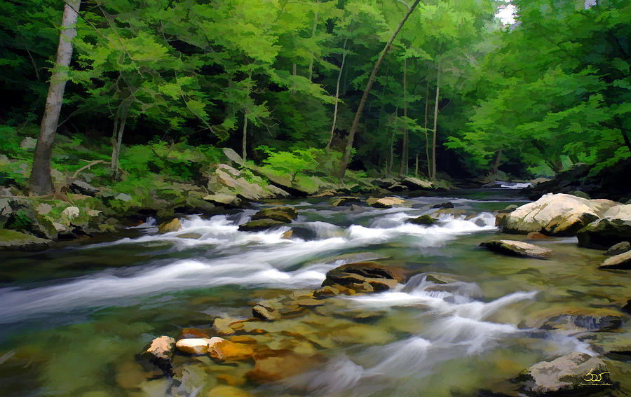 Gatlinburg Stream by Sam Davis Johnson