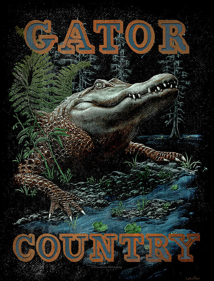 Alligator Painting - Gator Country by JQ Licensing