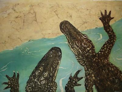 Gators Painting by Wendy Tatter