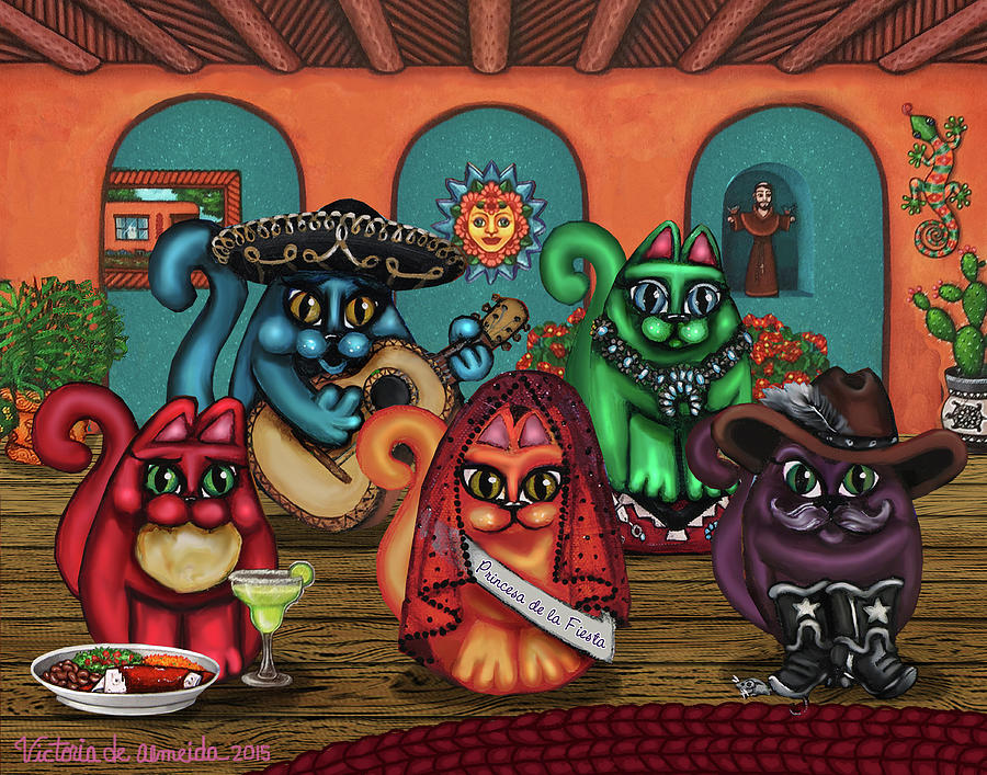 Gatos de Santa Fe by Victoria De Almeida