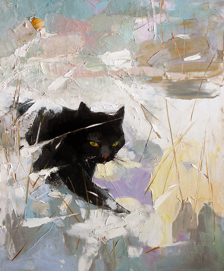 Gatto Di Lucia Painting by Jelena Stepanova-Abate