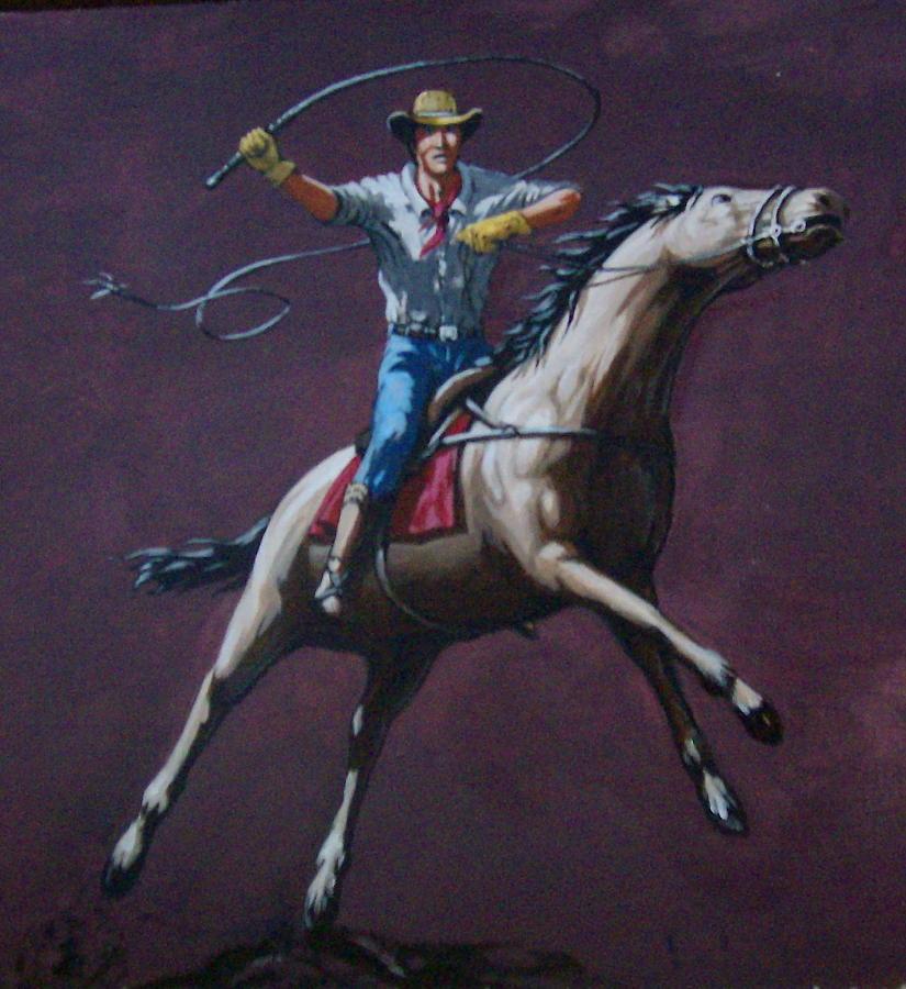 Horse Painting - Gaucho by David  Larcom