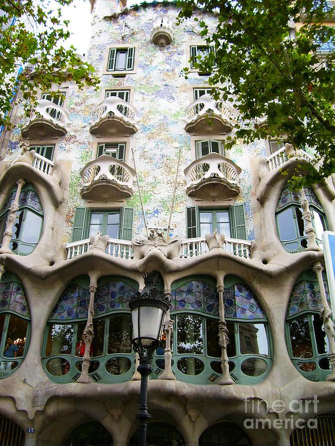 Mosaic Photograph - Gaudi Architecture by Laura Kayon