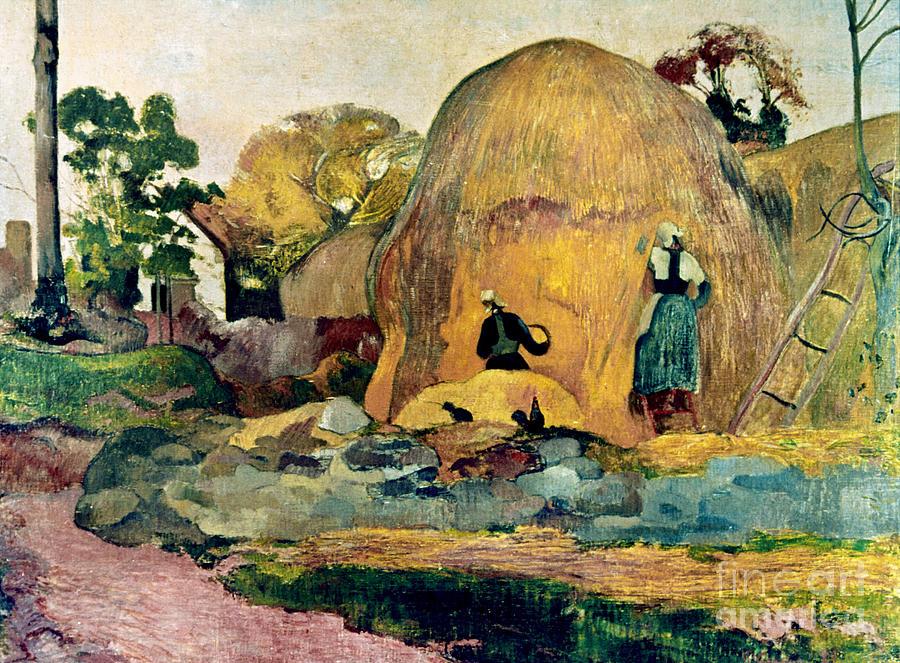 1889 Photograph - Gauguin: Haystacks, 1889 by Granger
