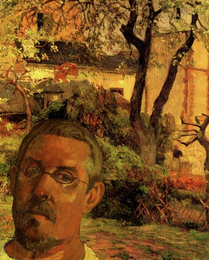 Gauguin Study in Orange by Tristan Armstrong