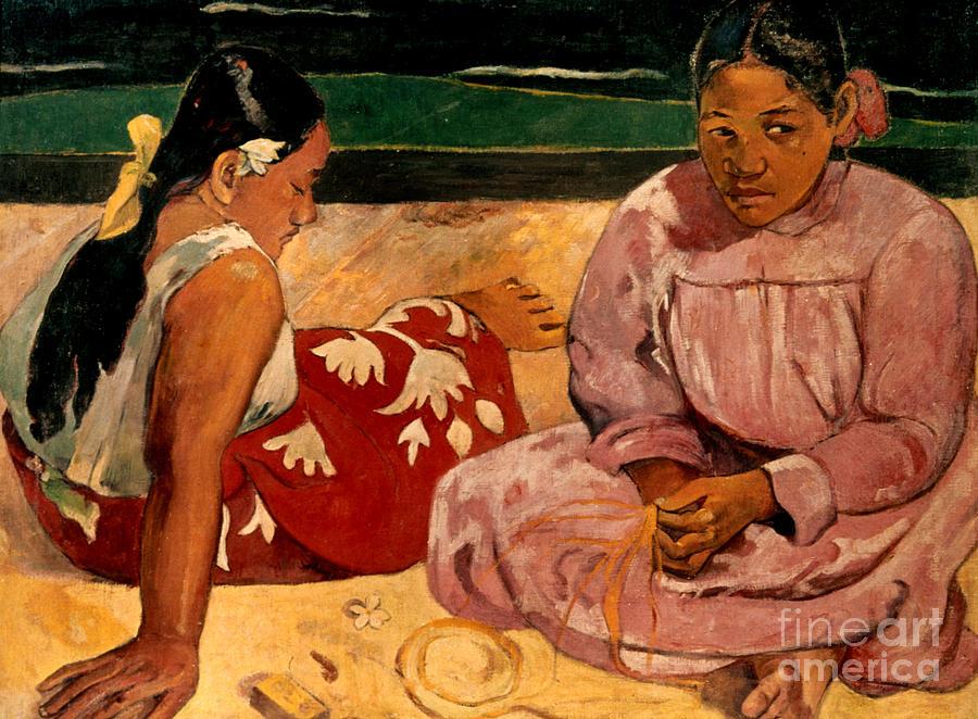 1891 Photograph - Gauguin: Tahiti Women, 1891 by Granger