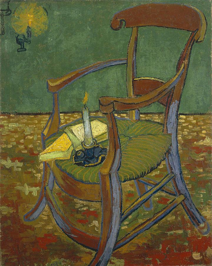 Van Gogh Painting - Gauguins Chair by Van Gogh
