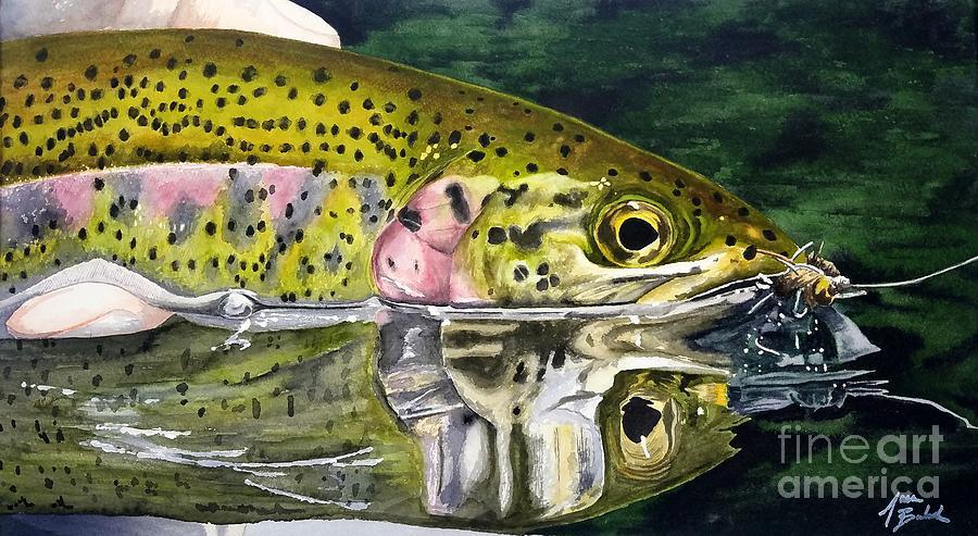Fishing Painting - Zero Bubble by Jason Bordash