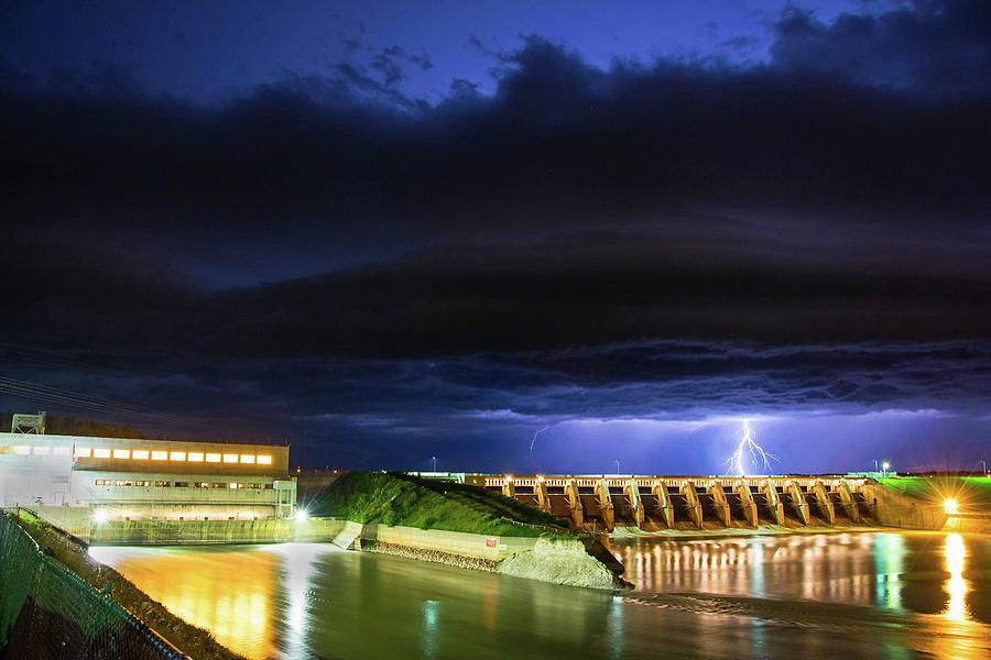 Gavins Point Lightning Photograph