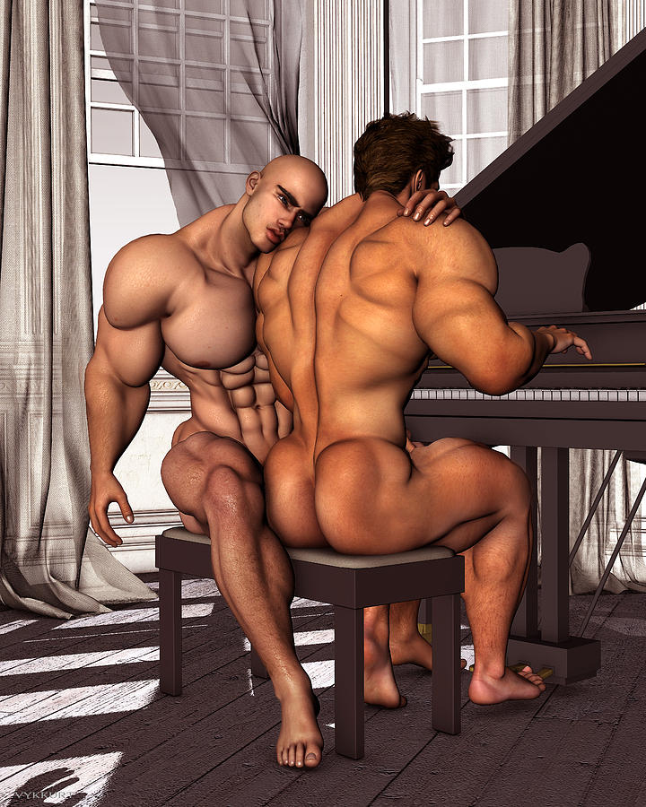 Nude bodybuilder men