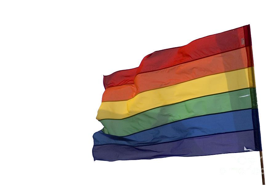 Flag Photograph - Gay Rainbow Flag  by Ilan Rosen
