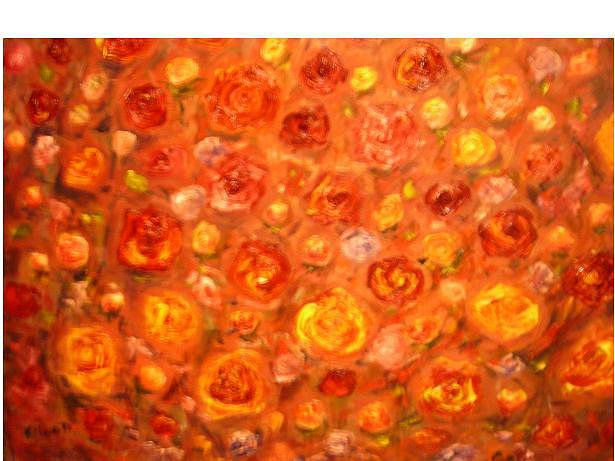 Roses Painting - Gay Roses by Eileen Anderson