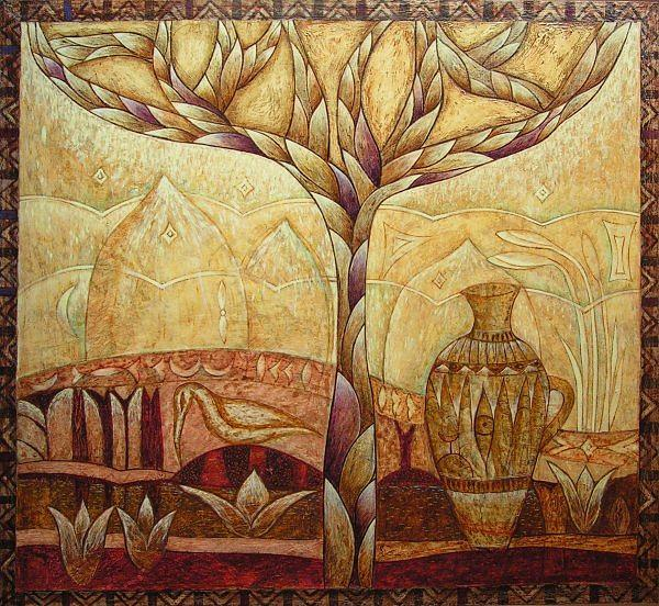 Symbolic Painting - Gaya by Kasia Blekiewicz