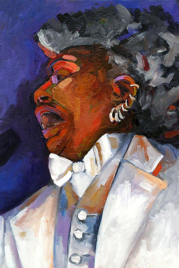 Portrait Painting - Gaye Adegbalola by Jackie Merritt
