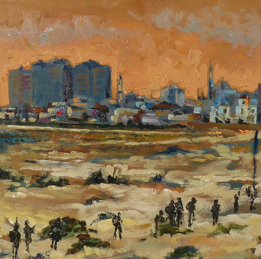 War Painting - Gaza Landscape 021 by Gavin Sane