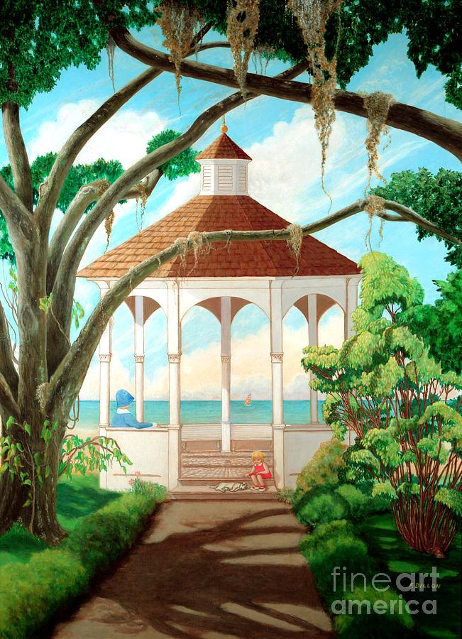 Landscapes Painting - Gazebo by Frances  Dillon