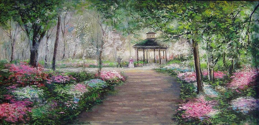 Garden Painting   Gazebo Garden By Charles Roy Smith
