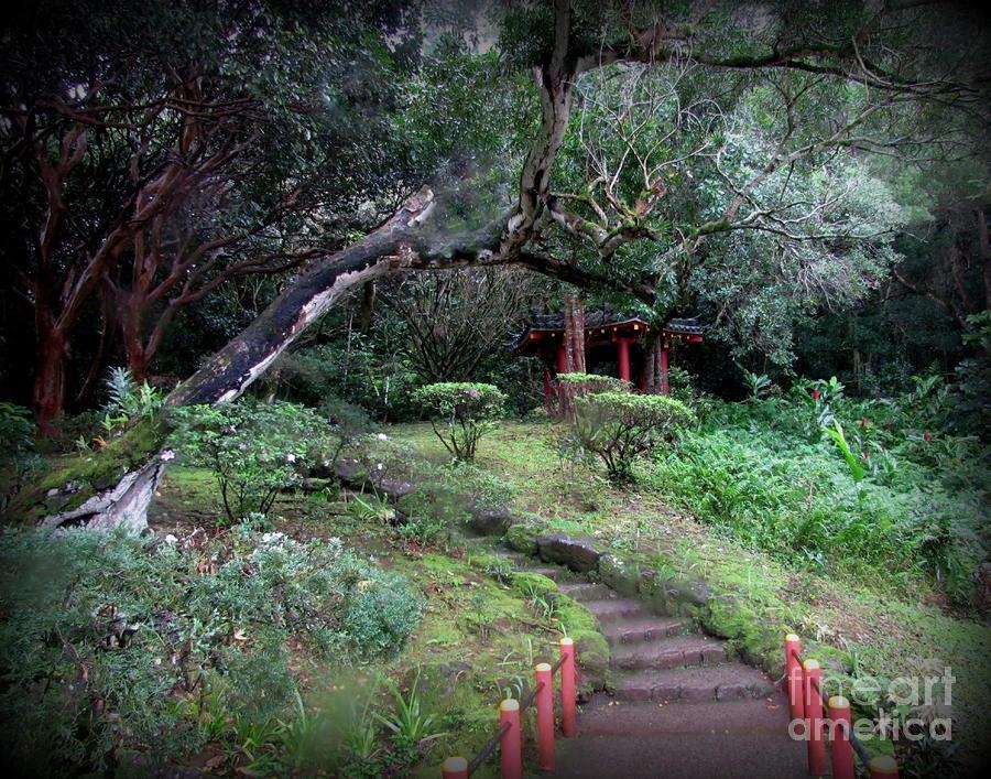 Hawaii Photograph - Gazebo on grounds in Oahu by Joy Patzner